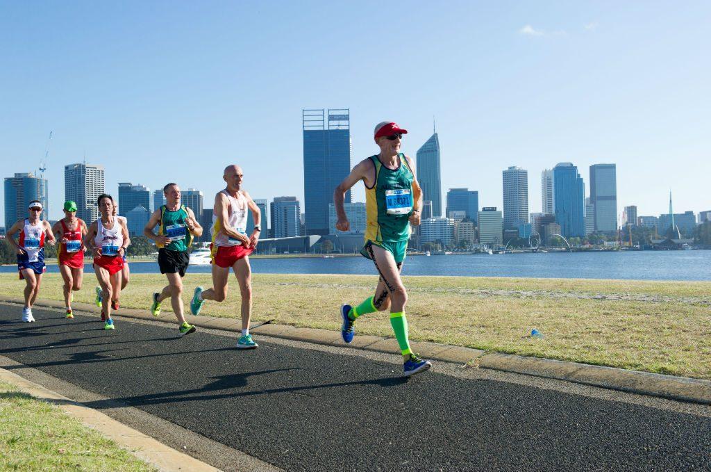 John Shaw running a marathon